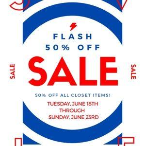 50% off all closet items!